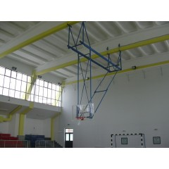Basketball folding roof system